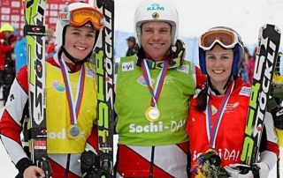 On the podium with Mar & Del in Sochi, 2013