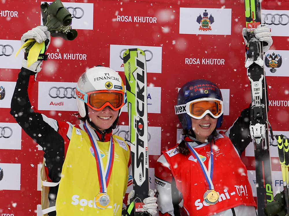 Teammates on the podium in Sochi, 2013